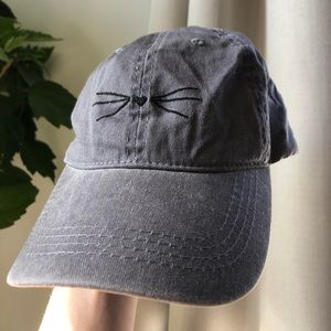 Other - Grey Baseball Hat Cat Whiskers Heart Nose